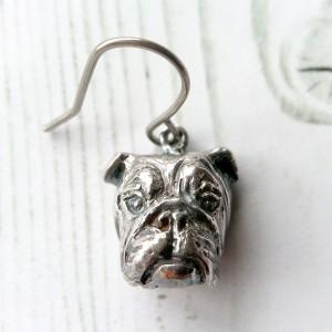 English Bulldog ・イングリッシュブルドッグ シルバーピアス