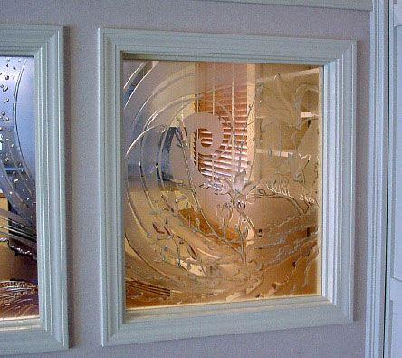 千駄木の家・エッチンググラス