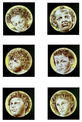 Angel face 八人の天使 ステンドグラス絵付け