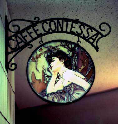 太陽の国 Caffe-Contessa ステンドグラス絵付け