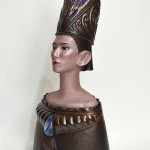 闇:The Darkness 2011 銅、ガラス W320 × D240 × H700 mm (C) Maya's 鍛金・ガラス造形作家 若林真耶