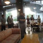 レセプション風景02・2011年東京藝術大学鍛金研究室鍛金展