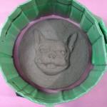 粘土原型を枠で囲います。