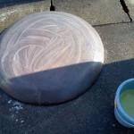 重曹で中和します。硫化の液を無駄に作りすぎて、落ち込みました。製造中止の貴重品です。