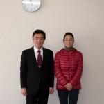 藤井信吾取手市長と設置を終えた私。とても作品を気に入ってくださり、光栄です!