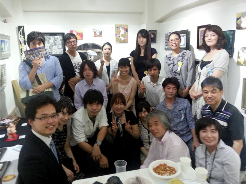 山本冬彦のまなざし展・クロージングパーティー