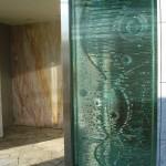小野邸・積層ガラス(玄関)
