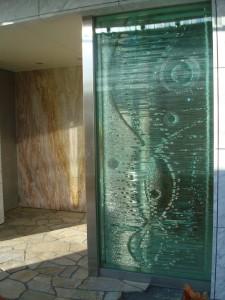 玄関部・積層ガラス