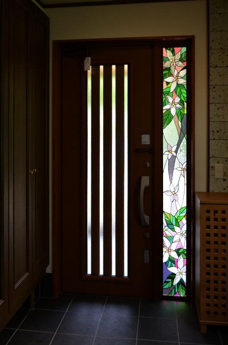 林邸・花のステンドグラス03