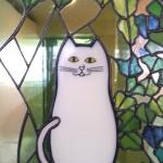 猫のステンドグラス / 文京区根津・マンション_07