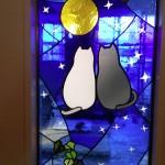 猫のステンドグラス / 文京区根津・マンション