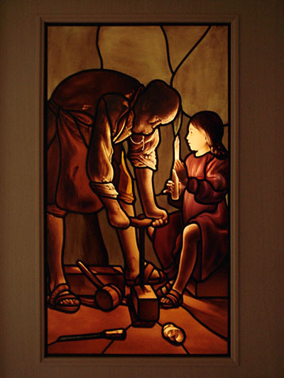 大工の聖ヨセフ ステンドグラス