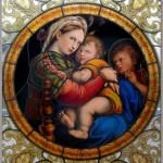 ラファエロ・『小椅子の聖母』ステンドグラス絵付け