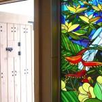 金子邸・鳥のステンドグラスパネル02
