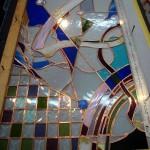 関谷邸・ステンドグラス カッパーフォイル巻き修了