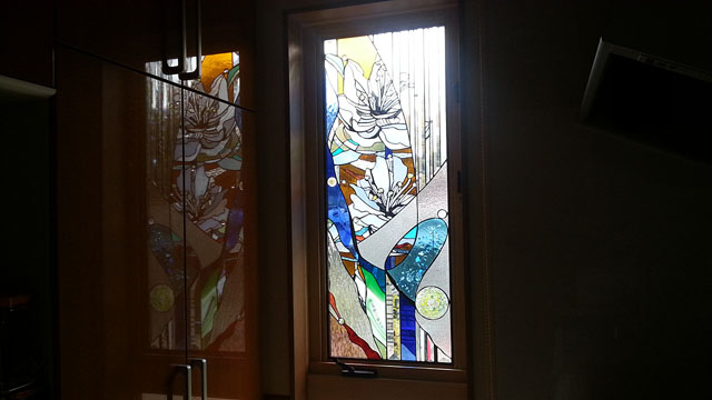天台 住友林業の家・キッチンのステンドグラス14