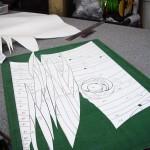 《小出邸 ゴッホ・糸杉のステンドグラス》ガラス切断用の型紙を作成