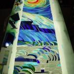 《小出邸 ゴッホ・糸杉のステンドグラス》ガラスカット割り付けをもっと細かくしたい欲求が沸々と・・