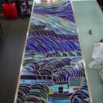 《小出邸 ゴッホ・糸杉のステンドグラス》あとは、アンティーク仕上げをして完成