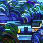 《小出邸 ゴッホ・糸杉のステンドグラス》Detail 01
