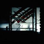 エントランス・ステンドグラスを2枚L型に施工しています w1150 ×h1900, w750 × h1900