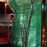 積層ガラスの滝・季の膳