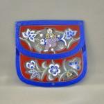 Bellecapri 中国・アンティークポーチの絵付けガラス-001