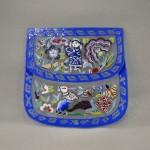 Bellecapri 中国・アンティークポーチの絵付けガラス-003