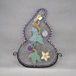Bellecapri 中国・アンティークポーチの絵付けガラス-005