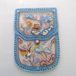 Bellecapri 中国・アンティークポーチの絵付けガラス-009