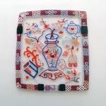 Bellecapri 中国・アンティークポーチの絵付けガラス-011