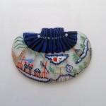 Bellecapri 中国・アンティークポーチの絵付けガラス-014