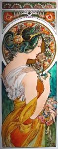 Mucha・桜草 ステンドグラス・エナメル絵付け フリースタイルWorkshop-015