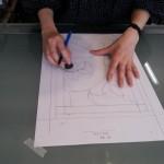 ベベルグラスのステンドグラスパネル・フリースタイルWorkshop001