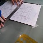 ベベルグラスのステンドグラスパネル・フリースタイルWorkshop002