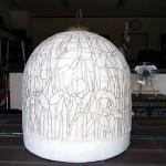 アイリスのステンドグラス・ランプシェード-009