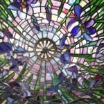 アイリスのステンドグラス・ランプシェード-038