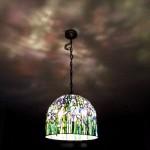 アイリスのステンドグラス・ランプシェード-048