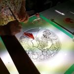 20130812_Mucha_Zodiac_workshop_002 ワークショップ・3日目 シルバーステインの塗りこみ