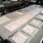 アルカディア歯科・町田 ステンドグラスの型紙作り