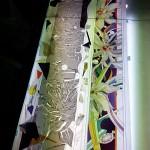アルカディア歯科・町田 ドアのステンドグラスはカット終了 その弐