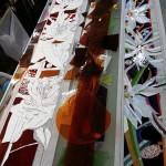 アルカディア歯科・町田 洗面室のステンドグラス・背景色のカット開始