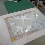 ベベルグラスのステンドグラスパネル・フリースタイルWorkshop009