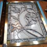 ベベルグラスのステンドグラスパネル・フリースタイルWorkshop011