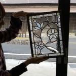 ベベルグラスのステンドグラスパネル・フリースタイルWorkshop012