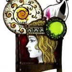 2013_Hair_ornaments_Lady_005 絵付けのステンドグラス・髪飾りの女
