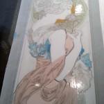 ミュシャ・桜草のステンドグラス 線描の為の準備