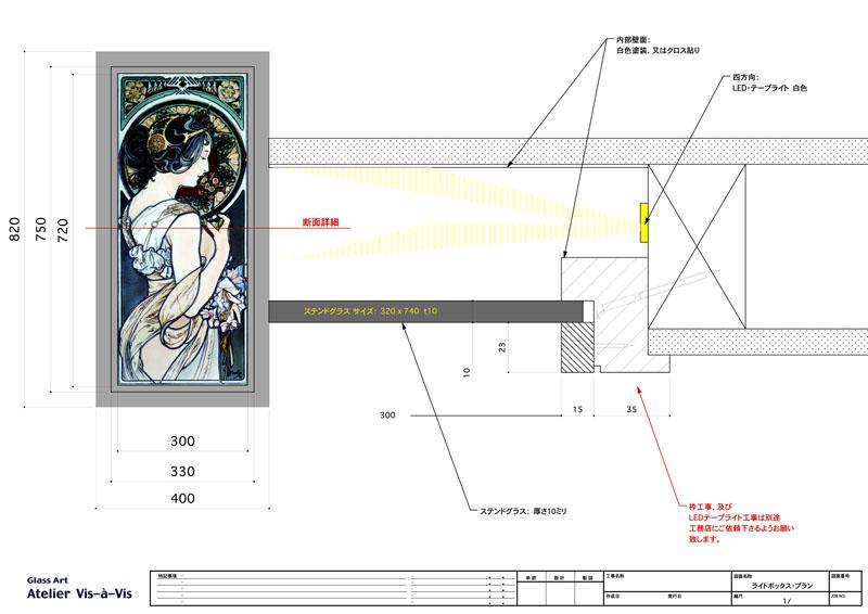 ステンドグラス用ライトボックス・詳細