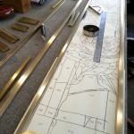 アルカディア歯科・町田 ステンドグラス枠用真鍮加工