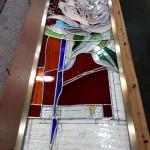 アルカディア歯科・町田 ステンドグラス、真鍮枠取り付け